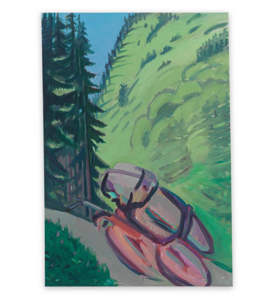 Motorrad im Wald / Motorradfahrer <br>(Motorcycle in the Forest / Motorcyclist)