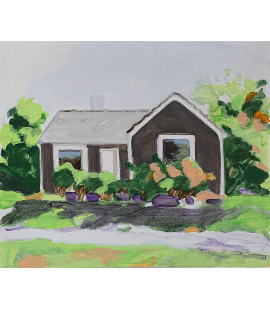 Grey house, June