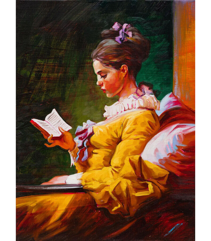 Young Girl Reading (after Fragonard)