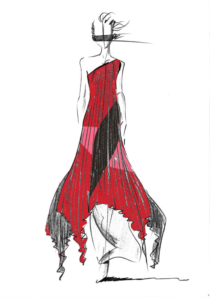 Sketch of Look 55