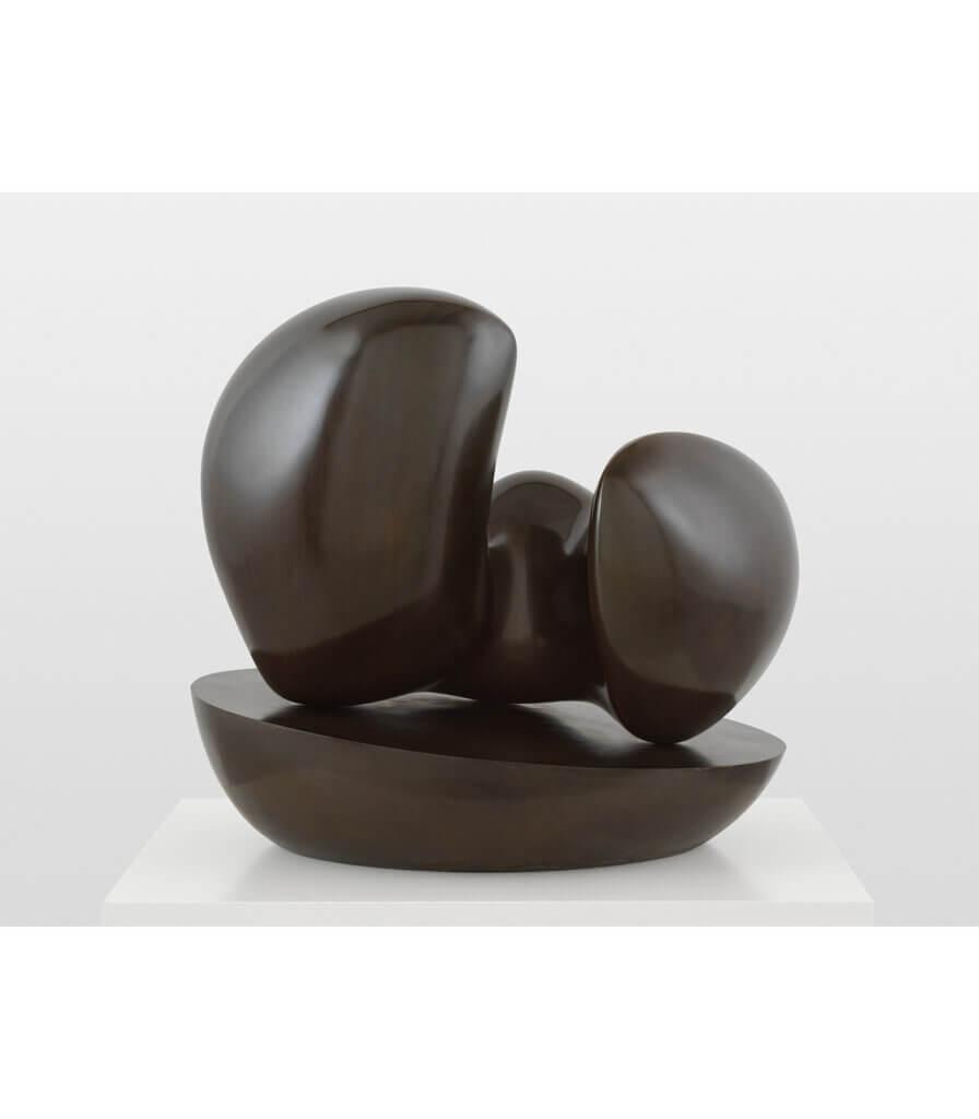 Menschliche Konkretion auf ovaler Schale / Concrétion humaine sur coupe ovale (Human Concretion on Oval Bowl)